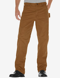 Dickies Men's Big & Tall Brown Duck Relaxed Fit Straight Leg Weatherford Carpenter Jeans