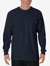 Dickies Solid Color Long-Sleeve Heavyweight Pocket Crewneck T-Shirt – Men's Big & Tall