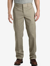 Dickies Khaki Slim Fit Straight Leg Work Pants – Men's