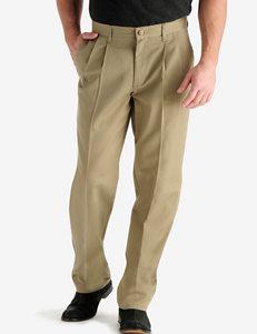 Lee® Men's Big & Tall Khaki Twill Pleated Pants