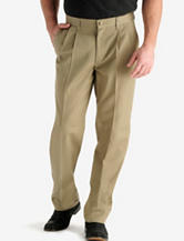 Lee® Men's Big & Tall Khaki Twill Pleated Pants