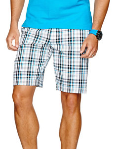 Sun River Plaid Flat Front Shorts