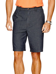 Sun River Chambray Flat Front Shorts