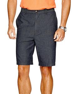 Sun River Chambray Flat Front Shorts