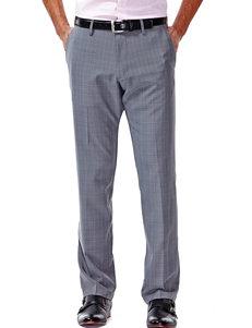 Haggar Grey Plaid Straight Fit Performance Pants