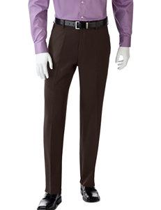 Haggar Fancy Brown Dress Pants