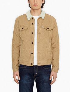 Levi's® Sherpa Lined Beige Trucker Jacket