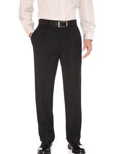 Haggar Men's Big & Tall Stria Solid Color Dress Pants