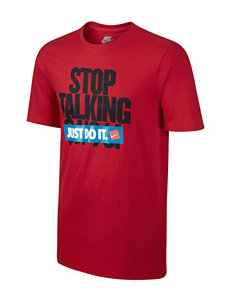 Nike® Stop Talking Solid Color Black T-shirt