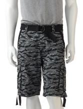 Ecko Unltd. Black & Grey Ripstop Cargo Shorts