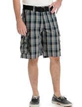 Lee® Riviera Grey Plaid Wyoming Cargo Shorts