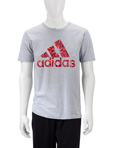adidas® Solid Color Grey Shatter T-shirt