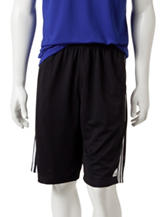 adidas® Black & White Triple Mesh Shorts