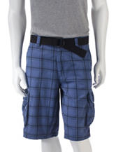 Trilogy Thin Line Plaid Twill Cargo Shorts