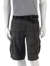 Trilogy Windowpane Plaid Ripstop Cargo Shorts