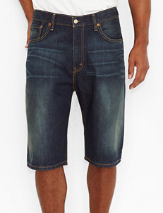 Levi's 589 Springstein Dark Wash Denim Shorts