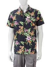 Eighty Eight Multicolor Tropical Print Woven Shirt
