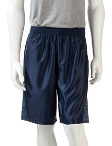 Spalding Solid Color with Black & White Patterned Side Panel Shorts