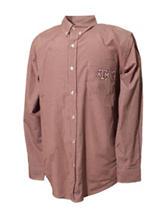 Texas A&M Aggies Maroon & White Gingham Plaid Shirt