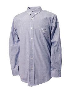 NCAA Royal Blue Casual Button Down Shirts NCAA