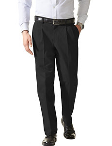 Dockers Men's Big & Tall Easy Black Pleated Pants
