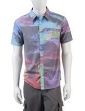 Ocean Current Palms Print Woven Shirt