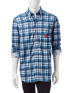Dickies Flame-Resistant Plaid Print Woven Shirt