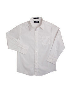 French Toast White Casual Button Down Shirts