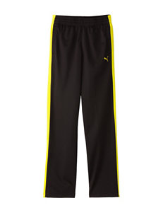 Puma Black & Neon Yellow Tricot Pants