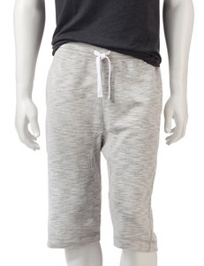 Hollywood Solid Color Grey Jogger Shorts