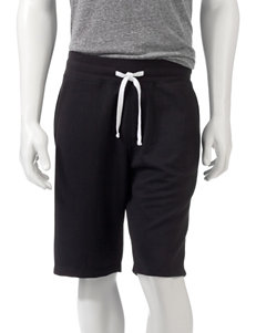 Hollywood Solid Color Black Jogger Shorts