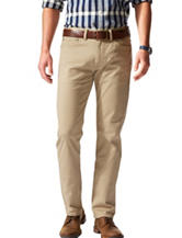 Dockers® Solid Color Light Beige Straight Fit Stretch Pants