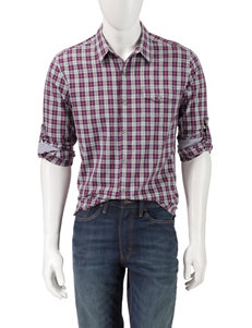 DKNY Jeans Plaid Casual Button Down Shirts