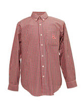 Ole Miss Rebels Red & Navy Plaid Shirt