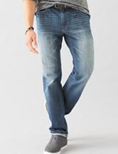 Signature Studio Medium Wash Slim Straight Jeans