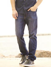 Signature Studio Blast Wash Slim Straight Jeans