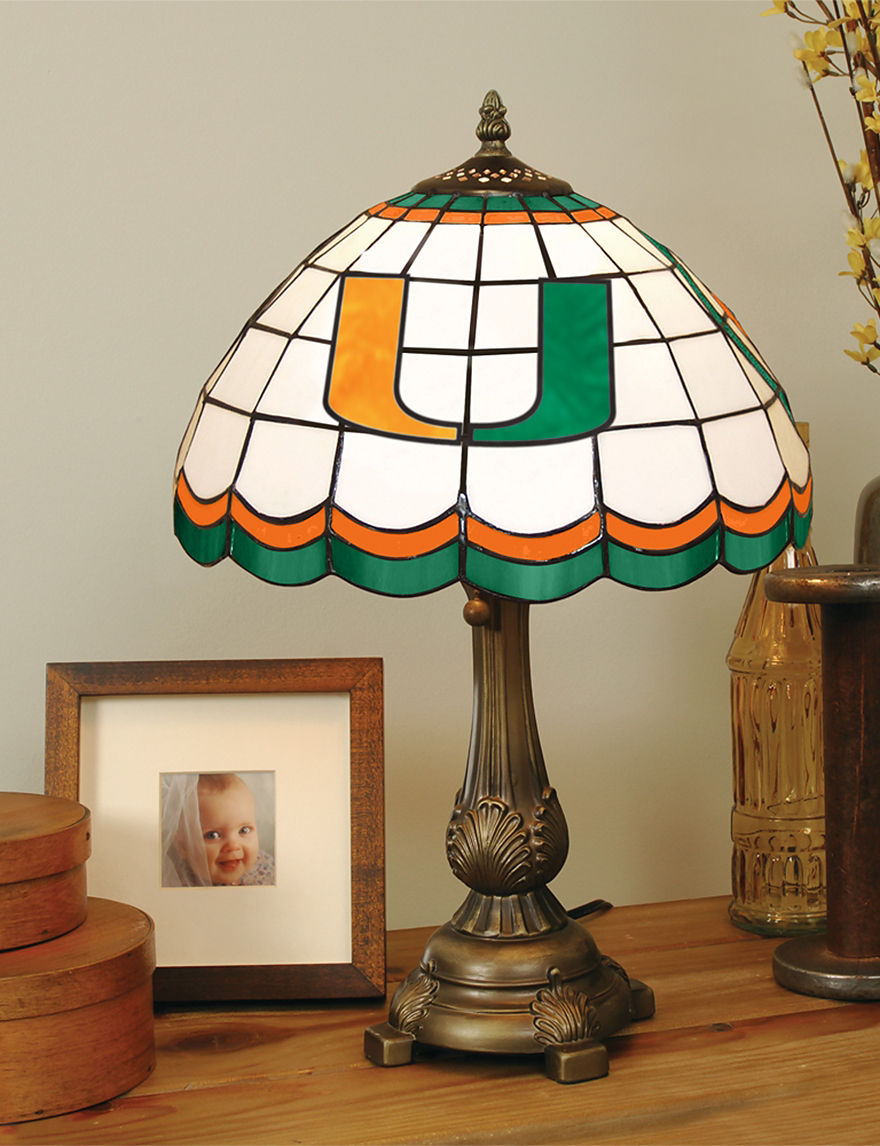 NCAA Green Table Lamps Lighting & Lamps