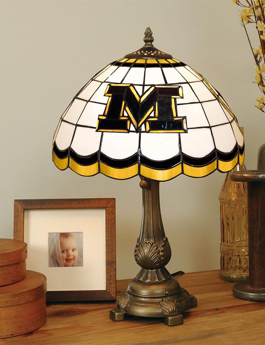 NCAA Yellow Table Lamps Lighting & Lamps