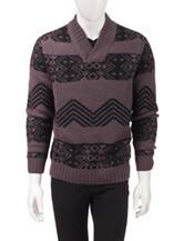 Axist Jacquard Pattern Knit Sweater