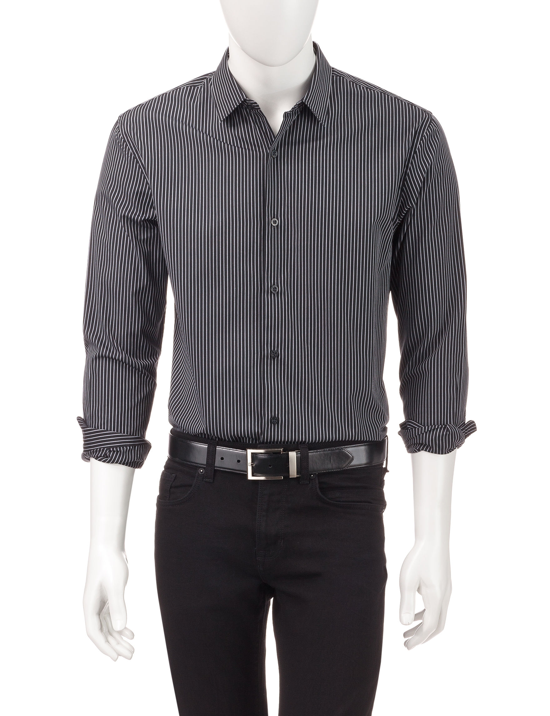 Axist Black Casual Button Down Shirts