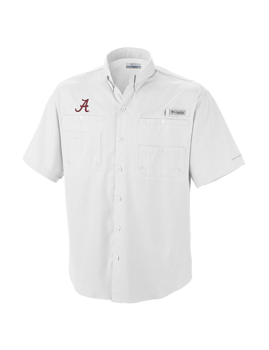 NCAA White Casual Button Down Shirts