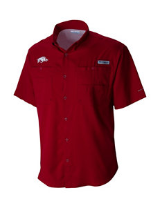 Columbia Collegiate University of Arkansas Tamiami Woven Shirt