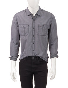 Signature Studio Blue Military Woven Shirt