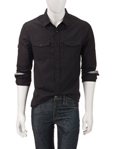 Signature Studio Black Textured Woven Shirt
