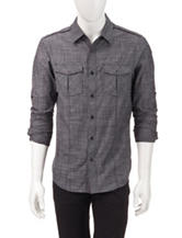 Signature Studio Charcoal Cross Hatch Shirt