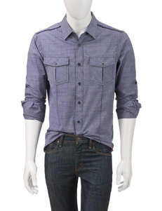 Signature Studio Navy Cross Hatch Shirt