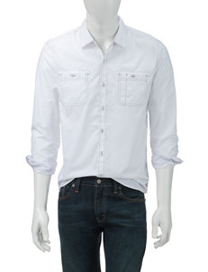 Signature Studio White Poplin Woven Shirt