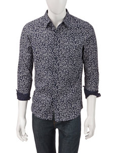 Signature Studio Navy & White Petal Print Shirt