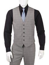 Perry Ellis Gray Plaid Suite Separate Vest