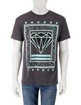 Hybrid Diamond Frame Charcoal Heather Knit T-Shirt